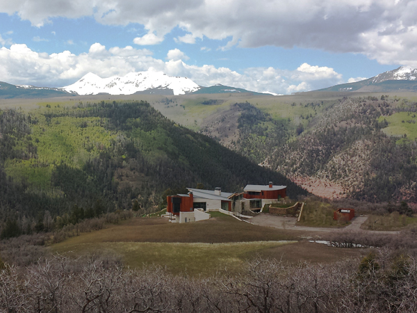 Finished site grading for a single family home in Gray Head, San Miguel County, Colorado