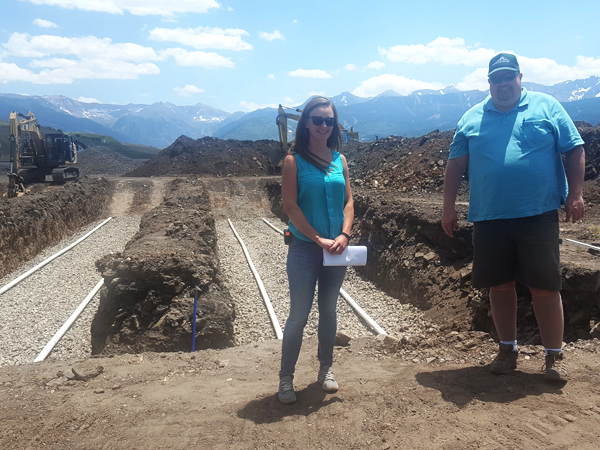 New wastewater treatment system, under construction, Telluride Regional Airport, Colorado